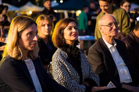 Con Laura Boldrini e Peppino Lavorato a Restart