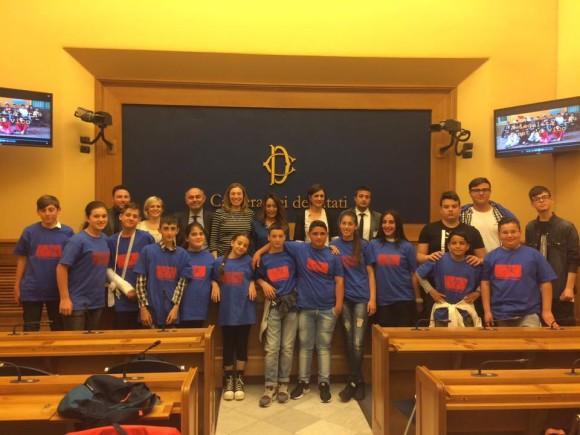 Con i ragazzi della Famiglia di Maria di San Giovanni a Teduccio alla Camera dei Deputati
