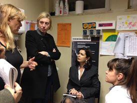 In visita con la Presidente Boldrini allo Sportello Donna h24 di BeFree all'ospedale San Camillo