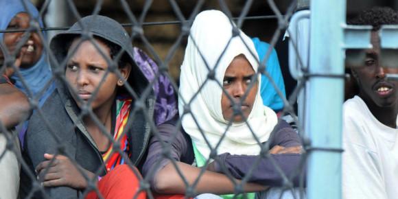 20/09/2015 Palermo. A bordo della nave della marina tedesca Holfein, sono sbarcati 767 migranti. Fra loro ci sono 65 minori non accompagnati e 9 donne incinte