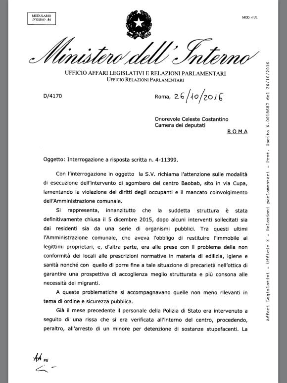 L 39 imbarazzante risposta del ministero dell 39 interno sul for I ministero interno